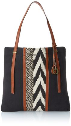 Lucky Brand Kendal N and S Travel Tote, Black/Black, One Size