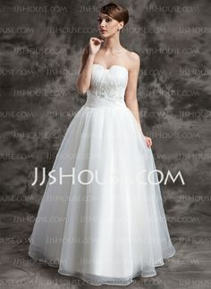 Wedding Dresses - $168.99 - Ball-Gown Sweetheart Floor-Length Organza Wedding Dress With Ruffle Lace Beadwork (002024075) http://jjshouse.com/Ball-Gown-Sweetheart-Floor-Length-Organza-Wedding-Dress-With-Ruffle-Lace-Beadwork-002024075-g24075