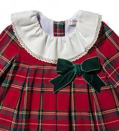 8030ca1aa Bonito vestido de cuadros escoceses de invierno para niña Vestidos Bebe Niña,  Vestido Escocés,