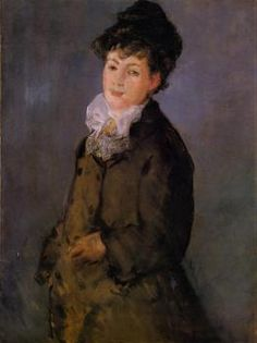 """""""Isabelle Lemonnier with a White Scarf"""" (1879), by French artist - Édouard Manet (1832-1883), Oil on canvas, Dimensions unknown, Ny Carlsberg Glyptotek - Copenhagen, Denmark."""