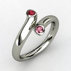 The Two Together Ring #customizable #jewelry #ruby #garnet #silver #ring