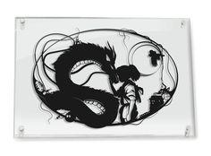 Studio Ghibli Spirited Away Haku and Chihiro // silhouette by Will Pigg