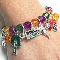 Mardi Gras bracelets have faceted acrylic beads creating a stretch bracelet in a second lining theme. Charms include sax and trumpet players, a drummer, Mardi Gras Indians, and a second liner with umbrella. The Mardi Gras jewelry lets your customers get into the spirit of the season. The bracelets also make affordable Mardi Gras favors. Follow the link to shop for different designs in wholesale Mardi Gras bracelets. http://www.awnol.com/store/Mardi-Gras/Mardi-Gras-Bracelets