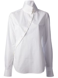 Mcq By Alexander Mcqueen Asymmetric Button-front Shirt @  Curve via Farfetch.com | Too fussy?