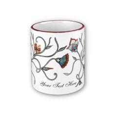 Abstract Floral Customizable Mug by SimonaMereuArt $16.90