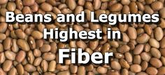 27 Beans and Legumes High in Fiber