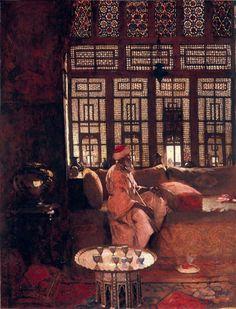 An Arab Interior by Arthur Melville 1881