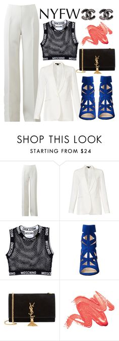 """Untitled #377"" by trinirockstarr ❤ liked on Polyvore featuring Michael Kors, Theory, Moschino, Nine West, Yves Saint Laurent, women's clothing, women, female, woman and misses"