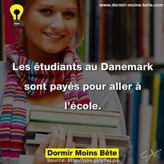 Les étudiants au Danemark sont payés pour aller à l'école.