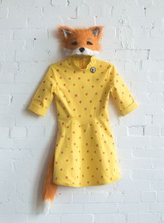 "Felicity mask and dress from Wes Andersons ""Fantastic Mr. Fox."" 2014 costume"