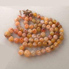 "Carol Kent Studios Carnelian Jasper Agate Necklace 24"" Long Fashion Jewelry"