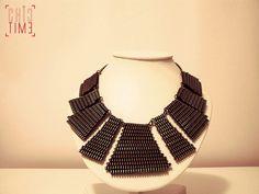 Handmade Pyramid Metal Zipper Necklace