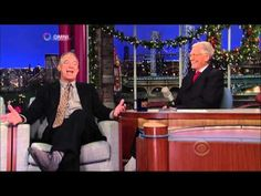 Letterman at Christmas - Jay Thomas Lone Ranger Story and QB Challenge - 2011 - YouTube