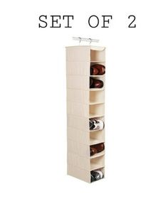 Richards Homewares Hanging Ten Shoe Large Shelf OrganizerCanvasNatural 2 PACK ** You can find out more details at the link of the image.