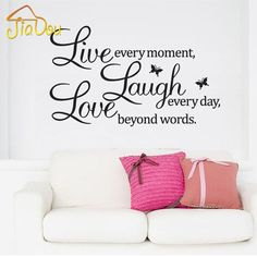 Live Laugh Love Wall Decal Vinyl Sticker Quote Art Living Room Dining Room  Decor Mothers Day Gifts For Mom Or Your Mother | For The Home | Pinterest |  Quote ...