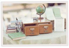 Library themed wedding ideas