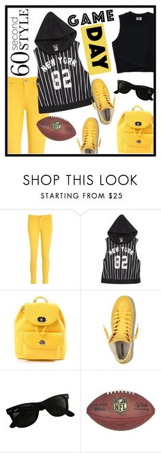 """60 Second Style: Game Day"" by veronica7777 ❤ liked on Polyvore featuring Tommy Hilfiger, Wet Seal, Coach, Ray-Ban and gameday"