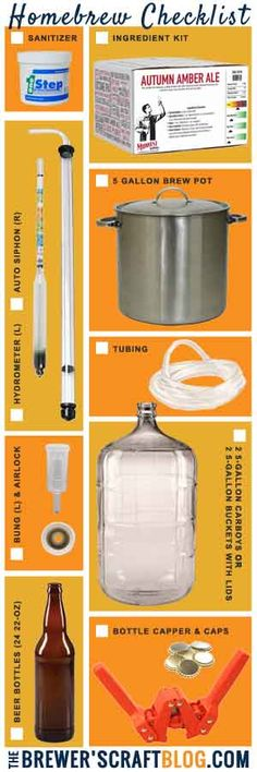 Homebrew Checklist: everything you need to brew your first beer! Great Christmas gift idea. │TheBrewersCraftBlog.com