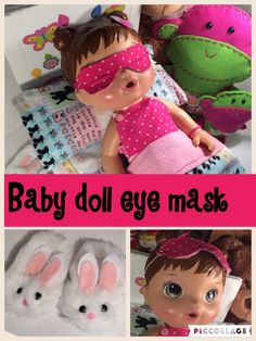 Easy D.I.Y baby doll mask. #craftyconjuring #baby alive #baby doll clothes
