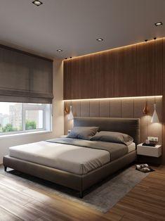 Bedroom Bed In 2019 Bedroom Bed Design Modern Bedroom Master Bedroom Interior, Luxury Bedroom Design, Modern Master Bedroom, Bedroom Furniture Design, Master Bedroom Design, Minimalist Bedroom, Contemporary Bedroom, Bedroom Wall, Bedroom Designs
