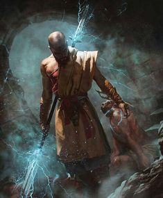 Video Game Art: Diablo 3 Monk - Video Game Art by Josu Hernaiz, Chile. 3d Fantasy, Fantasy Warrior, Fantasy Artwork, Fantasy Story, Character Concept, Character Art, Concept Art, Character Design, Dnd Characters