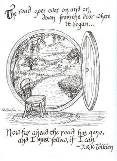 The Road Goes Ever On print, by Erika Heins, with Tolkien quote (from a Walking Song by Bilbo Baggins', The Hobbit) : via Etsy. Jrr Tolkien, Tolkien Quotes, Book Quotes, Tolkien Tattoo, Hobbit Quotes, Hobbit Tattoo, Lotr Tattoo, Craft Quotes, Citations Tolkien