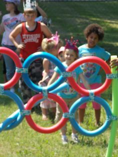 My son wanted a British birthday party and I had the idea of doing a nod to the London Olympics, called silly Olympics.  Thanks to Family Fun I was able to create a safe Javelin throw and if placed directly on the ground it can be great in an agility course.  The kids loved it!