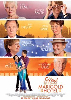 The Second Best Exotic Marigold Hotel (2015) PG - Director: John Madden - Writer: Ol Parker - Stars: Judi Dench, Maggie Smith, Bill Nighy - As the Best Exotic Marigold Hotel has only a single remaining vacancy - posing a rooming predicament for two fresh arrivals - Sonny pursues his expansionist dream of opening a second hotel. - COMEDY / DRAMA