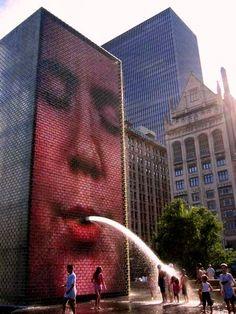 Jaume Piensa #StreetArt en Chicago - .................................................... #Arte #Art #ArteUrbano #UrbanArt #Graffiti