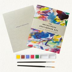 For those dreamy rainy days. I mean - isn't this just art in itself? Watercolor Sketchbook Kit via jo cho