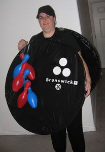 I just wanted to share my Halloween costume picture.  I went to Walmart and got two standard size hula hoops and a box of 39 gallon lawn and leaf bags.  A hula hoop fits right inside the lawn bag and then I taped all the edges to the back with black electrical tape.