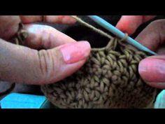 Horgolt babacipő 2. - A cipő oldala