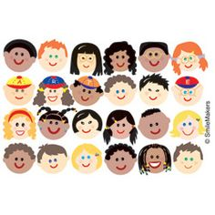 multicultural smiley faces