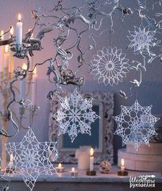 Ganchillo y las artes: Copos de nieve de crochet
