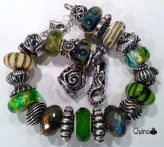 My green trollbeads. By Quina Quini