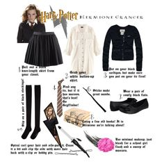 """Hermione DIY Halloween Costume"" by kassyshimotsu on Polyvore"