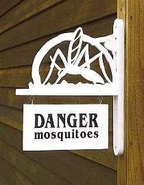 Danger Mosquitoes Plaque Plan