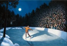 Giclee on Canvas 'Woodland Arena' art by surrealist artist Rob Gonsalves