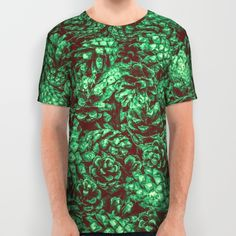 Scent of Pine RETRO GREEN / Photograph of pine cones All Over Print Shirt