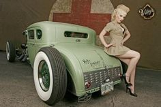 Hot rod and pin up.