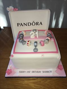 Pandora cake.  Hand Made beads all edible.