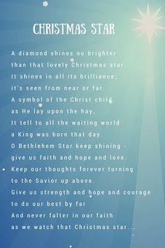 christmas star poem - Google Search