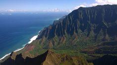 Kalalau on the Na Pali Coast of Kauai.