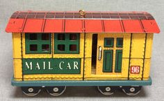 Yuletide Central - Mail Car - 3rd in the Series - Hallmark - 1996