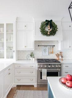 Kitchen Decor for Christmas Luxury Simple Christmas Kitchen Decor the Lilypad Cottage Kitchen Hood Design, Kitchen Hoods, Kitchen Reno, New Kitchen, Kitchen Remodel, Kitchen Ideas, Kitchen Cabinets, Green Kitchen Decor, Victorian Kitchen
