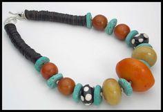TIBET++Big+Tibetan+Amber+Focal++Jade++by+sandrawebsterjewelry