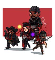 Was Moira in Blackwatch? I'm behind on developments so idk lol Overwatch Video Game, Overwatch Comic, Overwatch Fan Art, Junkrat And Roadhog, Widowmaker, True Art, Paladin, Funny Cute, Video Games