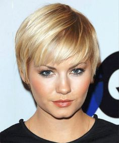 short haircut for blonde hair