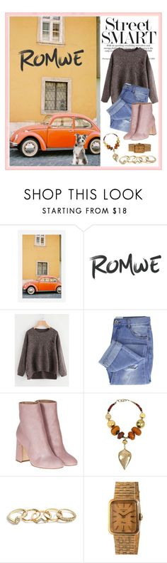 """Romwe Jumper Sweater"" by max-chance ❤ liked on Polyvore featuring Pottery Barn, Taya, Laurence Dacade, Robert Lee Morris, GUESS and Wittnauer"