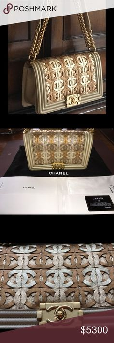 CHANEL limited edition Dubai Collection handbag Ultimate CHANEL.  Gorgeous Dubai limited edition handbag in mint condition.  Includes original dust cover, original paperwork (minus price tag), lambskin polishing cloth (never used) and Certificate of Authenticity. CHANEL Bags Shoulder Bags